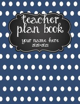Teacher Plan Book 2017-2018 in Nautical Theme; Fully Customizable
