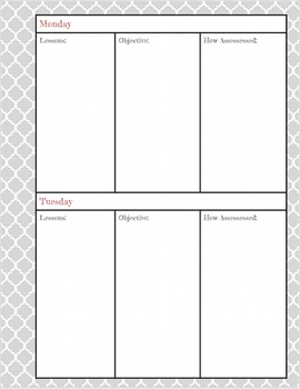 Plan Book- Complete with weekly and daily calendar, Sub Plan cover and more!