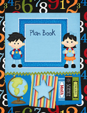 Teacher Plan Book Cover-Blues & Green