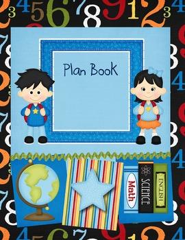 Teacher Plan Book Cover-Blues & Green