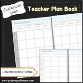 Planbook ~ Editable Planner for Weekly Lesson Plan Templat