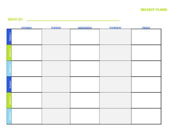 Teacher Plan Book Template (EDITABLE)