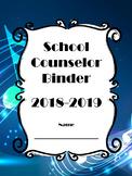 School Counselor Binder Set with Calendar - Musical Notes