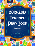 Teacher Plan Book and Monthly Planner - Colorful Blackboar