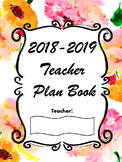 Teacher Plan Book and Monthly Planner - Pink Floral
