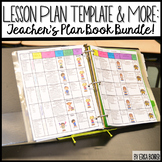 Lesson Plan Template Editable: Teacher Plan Book and So Much More!