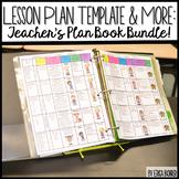 Lesson Plan Template & More: Teacher Plan Book Bundle