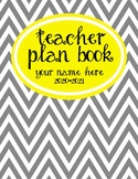Teacher Plan Book 2018-2019 in Yellow and Grey Theme; Fully customizable