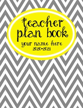 Teacher Plan Book 2016-2017 in Yellow and Grey Theme; Full