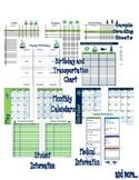 Nautical Teacher Plan Book or Organizational Pages