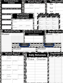 Teacher Binder (Ready to Print and Editable) Version