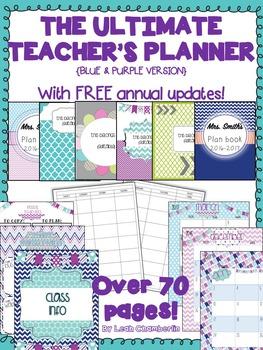 Teacher Planner {Blue and Purple}