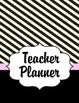 Teacher Planner 2017 - 2018 (Paris Theme) pink and black