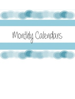 Teacher Planner 2014-15 - Blue and Editable