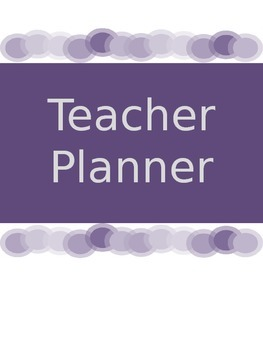 Teacher Planner 2014-15 - Purple & Editable