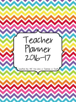 Teacher Planner 2016-17: Rainbow Style