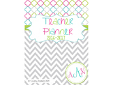 Teacher Planner: 2016-2017 Chevron Style