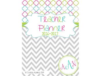 Teacher Planner: 2016-2017 Chevron Style