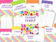 Teacher Planner: 2016-2017 Rainbow Polka Dots Style