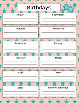 Teacher Plan Book 2017-2018 in Bright and Bold; Fully Customizable