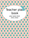 Teacher Plan Book 2018-2019 in Bright and Bold; Fully Customizable