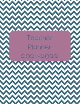 Teacher Planner 2017-18 Blue and Purple Chevron