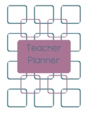 Teacher Planner 2018-19 Blue and Purple Chevron