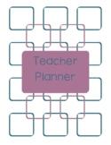 Teacher Planner 2018-19 Blue and Purple Chevron