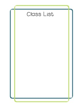 Teacher Planner 2017-18 Green and Blue Chevron
