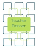 Teacher Planner 2017-18 Green and Blue Chevron