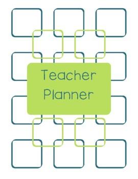 Teacher Planner 2016-17 Green and Blue Chevron