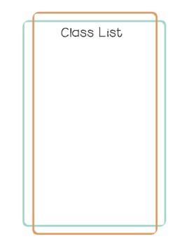 Teacher Planner 2017-18 Light Brown and Blue Chevron