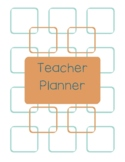 Teacher Planner 2018-19 Light Brown and Blue Chevron