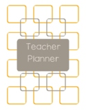 Teacher Planner 2018-19 Orange and Dark Gray Chevron