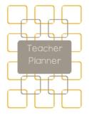 Teacher Planner 2018-19 Orange and Dark Gray Chevron