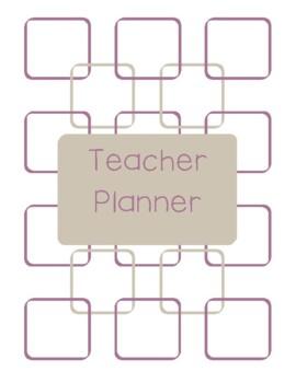 Teacher Planner 2017-18 Purple and Gray Chevron