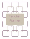 Teacher Planner 2018-19 Purple and Gray Chevron