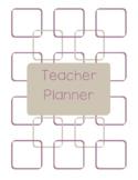 Teacher Planner 2018-19 Purple and Gray Chevron