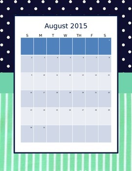 Teacher Planner 2015