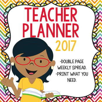 Teacher Planner or Binder 2018