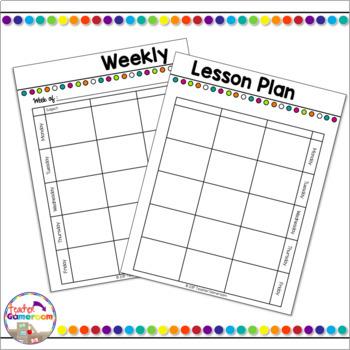 Teacher Lesson Planner