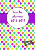 Teacher Planner 2015-2016