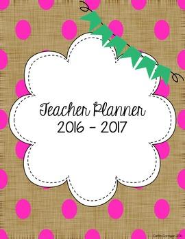 Teacher Planner 2016 - 2017