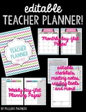 {EDITABLE} Teacher Planner 2017-2018 [Bright Chevron]