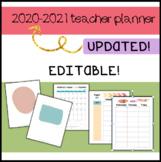 Teacher Planner 2016-2017, EDITABLE! Forms, organization,
