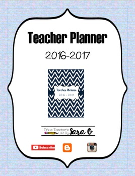 Teacher Planner 2016-2017 Not by subject (Days of the week)