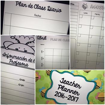 Teacher Planner 2016-2017  Spanish Version
