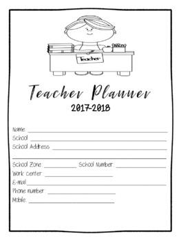 Teacher Planner 2017-2017