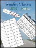 Teacher Planner 2017-2018 - 8 periods