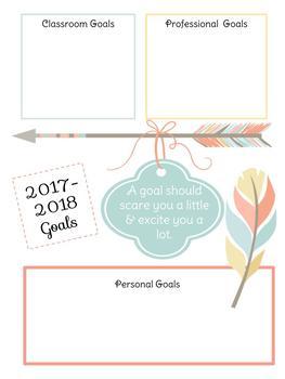 Teacher Planner 2017-2018 Boho theme! FULL PLANNER (monthly, daily)